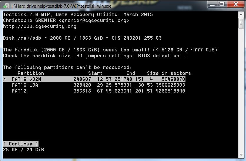 Hard drive stuff up - help appreciated! - cgsecurity org
